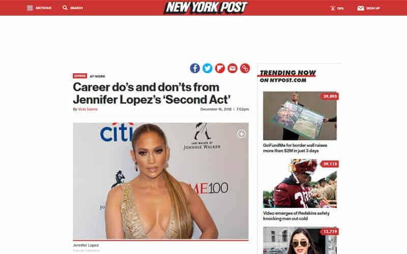 Career do's and don'ts from Jennifer Lopez's 'Second Act' (New York Post)