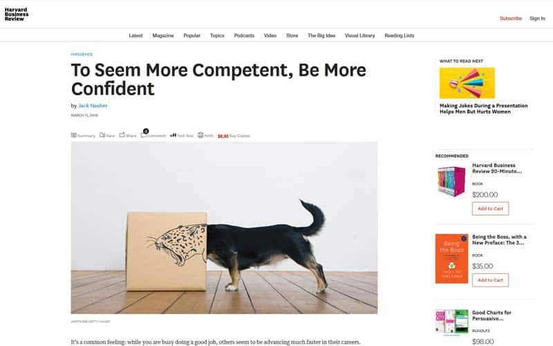 To Seem More Competent, Be More Confident (Harvard Business Review)